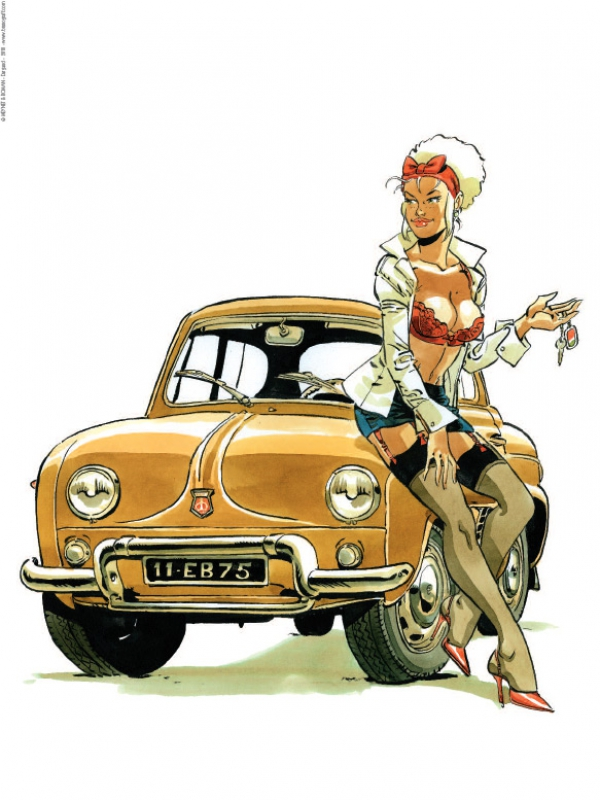 Pin-up Mirabelle Renault Dauphine 2018